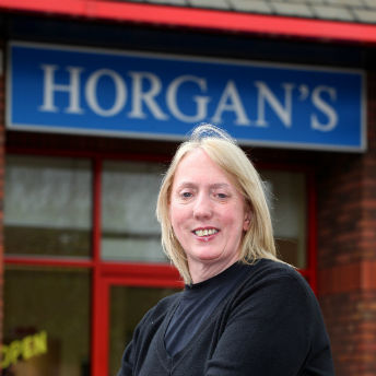 Elaine Halliwell, delighted new owner-manager of Horgan's