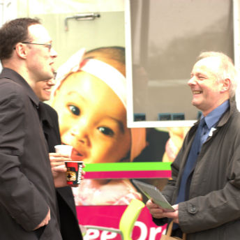 ART's Andy King (right) enjoys launch of Digbeth Social Enterprise Quarter