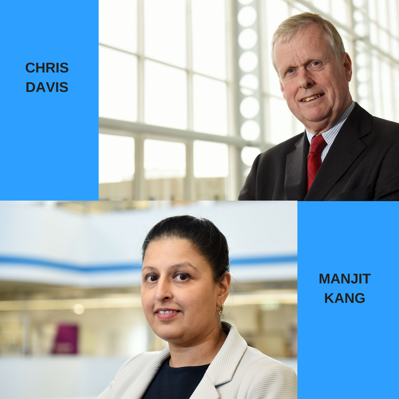 New ART Board members Chris Davis and Manjit Kang