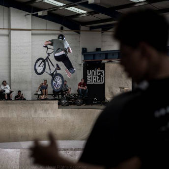 BMX bike action at Unit3Sixty