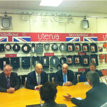 Business Secretary Vince Cable visits ART borrower Utensa