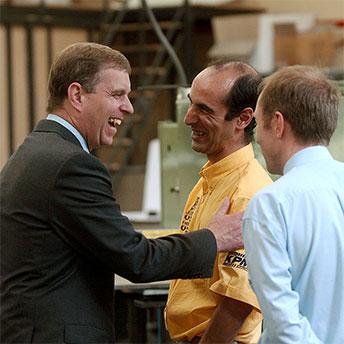 John Key, Jules Morgan and Steve Walker at KPM Marine