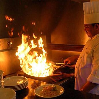 Chef cooking at Shahi Masala