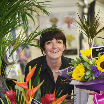 Joanne McDonnell at her Florist and Tea Room
