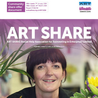 Front cover of ART's Community Share Offer Document